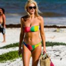 Ashley James in Colourful Bikini on holiday in Tanzania - 454 x 680