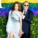 Thalia  and Tommy Mottola- 73rd Annual Tony Awards - Red Carpet - 374 x 600