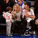 Shakira and Gerard Pique Attend The New York Knicks Vs Philadelphia 76ers Game - 454 x 332