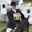 Zara Phillips riding CG Master Lux in the show jumping at the Hambledon Horse Trials, Oxfordshire - 416 x 594