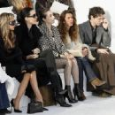 Victoria Beckham and L'Wren Scott attend the Chanel fashion show during Paris Fashion Week (Haute Couture) Spring/Summer 2006 on January 24, 2006 in Paris, France