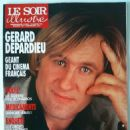 Gérard Depardieu - Le Soir Illustre Magazine Cover [France] (January 1991)
