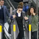 Lily James Travel Outfit – Arrives into Melbourne Airport 07/13/2017 - 454 x 682