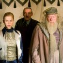 Clemence Poesy as Fleur Delacour, Roger Lloyd Pack as Barty Crouch and Michael Gambon as Dumbledore in Warner Bros. Harry Potter and the Goblet of Fire - 2005