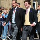 Prince William and Prince Harry at the wedding of Lady Melissa Percy and Thomas van Straubenzee in Alnwick, UK (June 22)