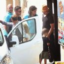 Angelina Jolie and Brad Pitt in Malta (Sept. 21, 2014)