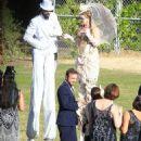 Aaron Paul and Lauren Parsekian Wedding Photos - 454 x 580