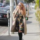Busy Phillips in Floral Mini Dress out in West Hollywood - 454 x 554