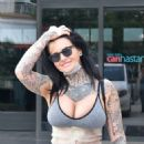 Jemma Lucy – Leaving a clinic in Izmir - 454 x 582