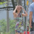 Gigi Hadid on a Photoshoot at the beach of Ipanema in Rio