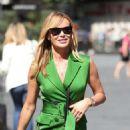 Amanda Holden in Green Mini Dress – Leaving Heart Radio in London - 454 x 542