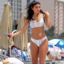 Chantel Jeffries in Bikini on the a beach in Miami