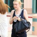 Dakota Fanning was spotted leaving Casa Vega after having lunch with her mother and friends in Studio City, California on August 24, 2012