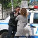 Jennifer Lopez on the set of 'Shades of Blue' in NYC - 454 x 636