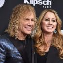 David Bryan of Bon Jovi, and family attend the 33rd Annual Rock & Roll Hall of Fame Induction Ceremony at Public Auditorium on April 14, 2018 in Cleveland, Ohio - 454 x 351