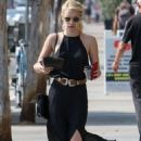 Emma Roberts in Black Dress out in West Hollywood - August 26, 2016