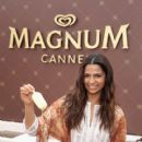 MAGNUM and BCBGMAXAZRIA With Camila Alves in Cannes