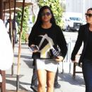 Christina Milian  out to lunch with friends at Il Pastaio in Beverly Hills, California on January 11, 2017 - 443 x 600