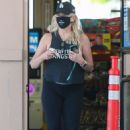 Heather, 58, wore the impressive piece of jewellery as she ran errands in Los Angeles and later popped into a gas station to buy cigarettes