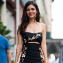 Victoria Justice in Print Dress – Out in New York - 454 x 589