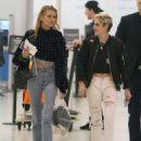 Kristen Stewart and Stella Maxwell – Arrives at Airport in Toronto