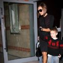 Victoria Beckham Leaving A Restaurant In Manchester City Centre With Her Sons 2008-01-25
