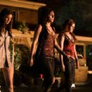Margo Harshman as Chugs, Briana Evigan as Cassidy and Rumer Willis as Ellie in the scene from horror thriller 'Sorority Row.' - 433 x 287