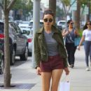 Crystal Reed Shops in Beverly Hills, CA 3/3/2016