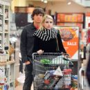 Emma Roberts and Evan Peters – Shopping in Los Angeles