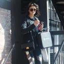 Nina Dobrev – Leaves her gym in Los Angeles - 454 x 681
