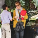 Dianna Agron: arriving at Sunset Towers Hotel