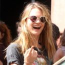 Behati Prinsloo enjoys the sunshine in New York City on September 4, 2013