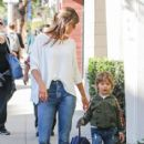 Alessandra Ambrosio picks her little boy up from school on January 17, 2017 - 414 x 600