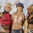 Pink, Christina Aguillera and Lil Kim At The MTV Video Music Awards 2001