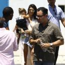 Kourtney Kardashian  spotted out and about in Miami, Florida with family and friends on April 24, 2016