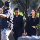 Jessica Alba and Gabriel Union – Film 'L.A.'s Finest' at a cemetery in Pasadena