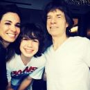 Lucas Jagger with his parents Luciana Gimenez & Mick Jagger - 2014 - 454 x 378
