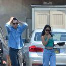 Vanessa Hudgens in Green Top with Austin Butler – Out in Los Feliz