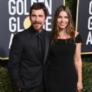 Christian Bale and Sibi Blazic At The 76th Golden Globe Awards (2019) - 454 x 599