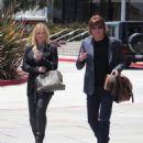 Bon Jovi guitarist Richie Sambora and his partner fashion designer Nikki Lund leave the Pacific Design Center in West Hollywood on July 24th, 2013