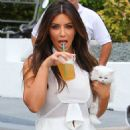 Kim Kardashian: filming their hit reality show in Miami