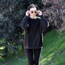 Rooney Mara and Joaquin Phoenix Out on a hike in Los Angeles