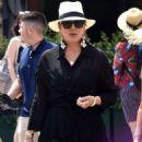 Kris Jenner in Black Dress on holiday on Portofino - 454 x 662
