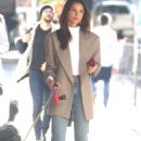 Emily Ratajkowski – walking her puppy Columbo in New York