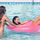 Tulisa Contostavlos in Black Bikini on the pool in Los Angeles - 454 x 289