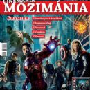 Robert Downey Jr., Chris Evans, Scarlett Johansson, Mark Ruffalo, Chris Hemsworth, Jeremy Renner, Samuel L. Jackson - Mozimania Magazine Cover [Hungary] (April 2012)