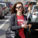 Lily Collins Leaves workout in Beverly Hills - 454 x 646