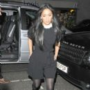Nicole Scherzinger: enjoys a night out at 34 restaurant in Mayfair, London
