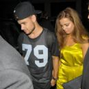 Liam Payne and his girlfriend Sophia Smith arrive holding hands at Funky Buddha nightclub in London to celebrate his 20th birthday on August 29