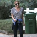 'The Walking Dead' actress Laurie Holden spotted out for a walk with a mystery man in Studio City, California on December 29, 2013